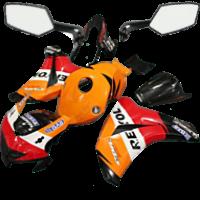 Пластик обвіс на мотоцикл